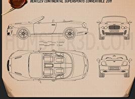 Bentley Continental Supersport convertible Blueprint