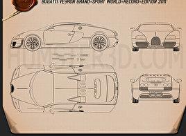 Bugatti Veyron Grand-Sport World-Record-Edition 2011 Blueprint
