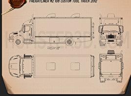 Freightliner M2 106 Custom Tool Truck 2012 Blueprint