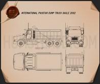 International Paystar Dump Truck 2002 Blueprint