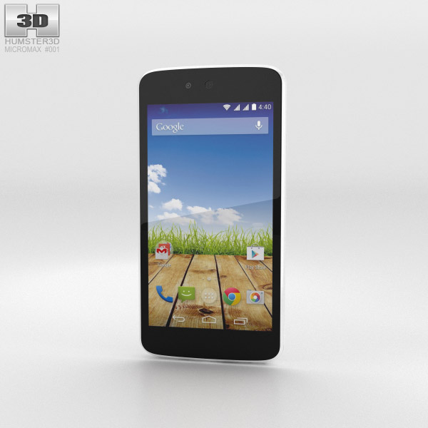 3D model of Micromax Canvas A1 Serene White