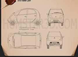 Tata Nano 2011 Blueprint