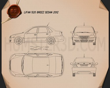 Lifan Breez (520) sedan 2012 Blueprint