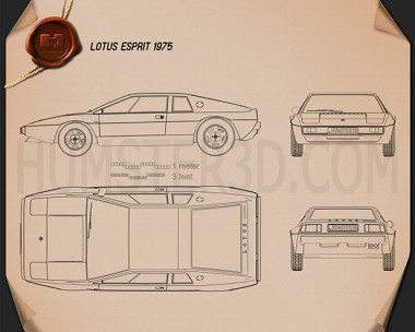 Lotus Esprit S1 1976 Blueprint