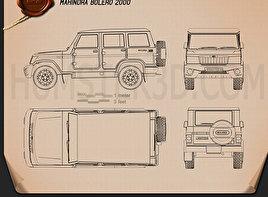 Mahindra Bolero 2001 Blueprint