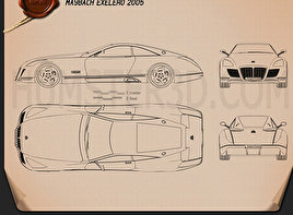 Maybach Exelero 2005 Blueprint