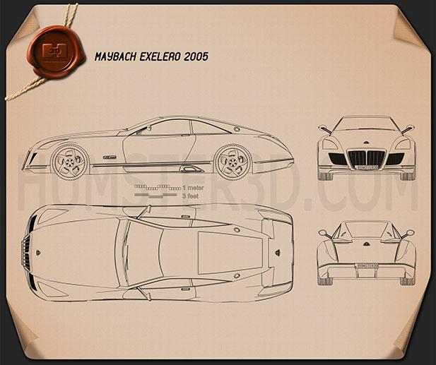 Maybach Exelero 2005 Blueprint