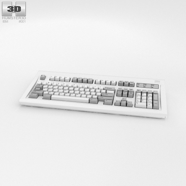 3D model of IBM Model M Keyboard