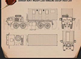 Oshkosh M1120A4 Load Handling System 2011  Blueprint