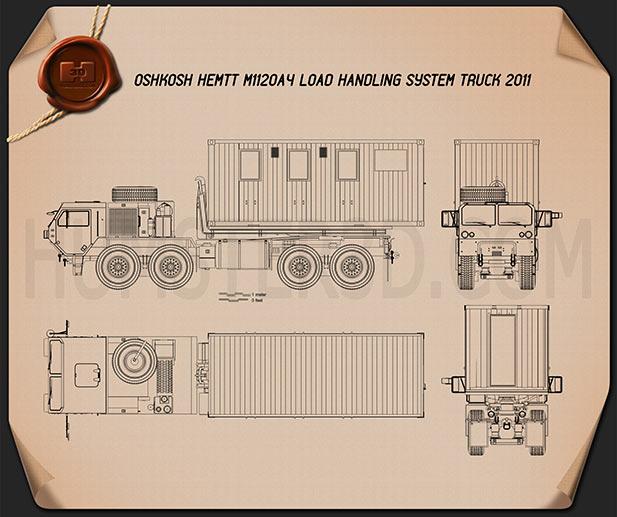 Oshkosh M1120A4 Load Handling System 2011  Plan