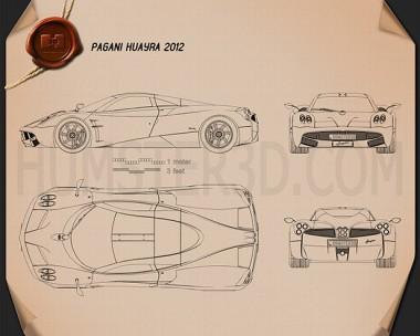 Pagani Huayra 2012 Blueprint