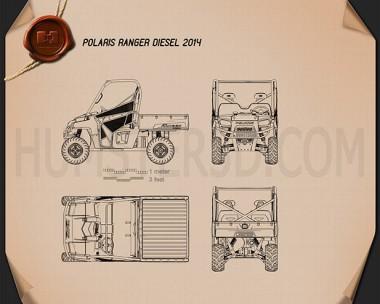 Polaris Ranger Diesel 2014 Blueprint