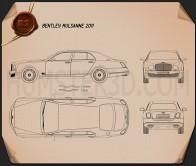 Bentley Mulsanne 2011 Blueprint