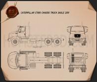 Caterpillar CT610 Chassis Truck 2011 Blueprint