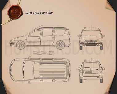 Dacia Logan MCV 2011 Blueprint