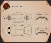Lotus Evora S 2011 Blueprint