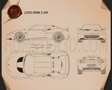 Lotus Evora S 2011 Blueprint
