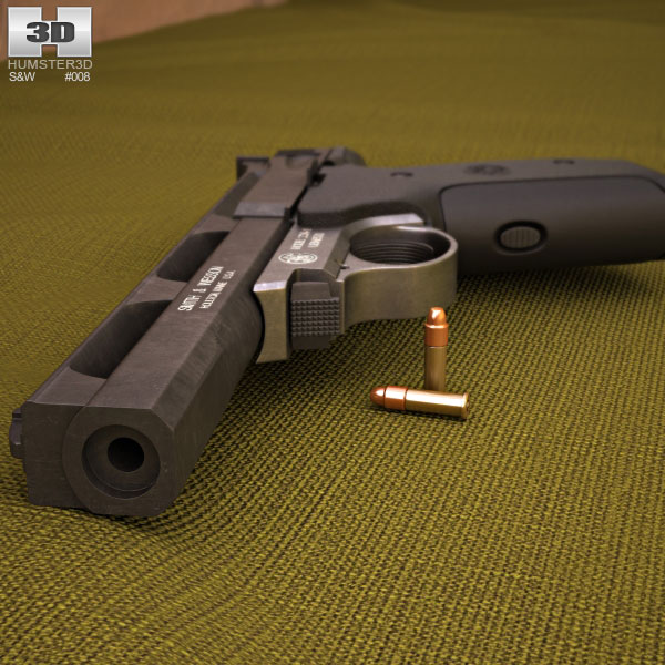 Smith & Wesson Model 22A 3d model