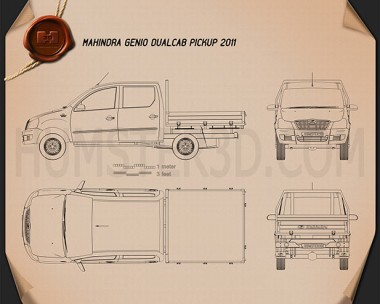 Mahindra Genio Dual Cab Pickup 2011 Blueprint
