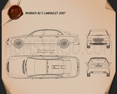 Maybach 62S Landaulet 2007 Blueprint