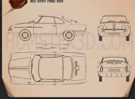 NSU Sport Prinz 1958 Blueprint