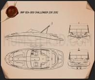 BRP Sea-Doo Challenger 230 2012 Blueprint