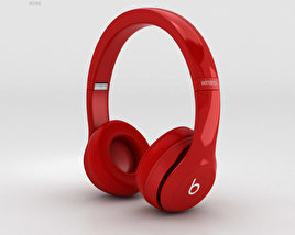 3D model of Beats by Dr. Dre Solo2 Wireless Headphones Red