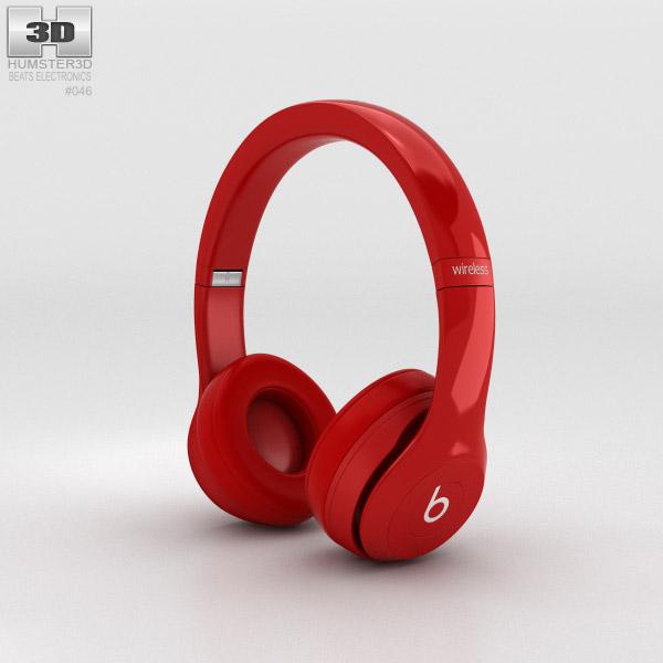 Beats by Dr. Dre Solo2 Wireless Headphones Red 3D model