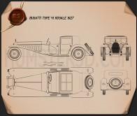 Bugatti Royale (Type 41) 1927 Blueprint