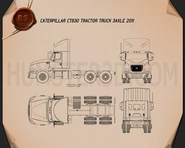Caterpillar CT630 Tractor Truck 2011 Blueprint