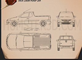 Dacia Logan Pickup 2011 Blueprint