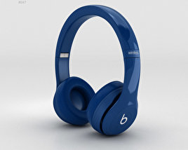 Beats by Dr. Dre Solo2 Wireless Headphones Blue 3D model