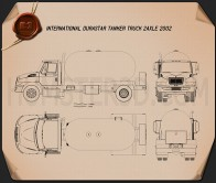 International Durastar Tanker Truck 2002 Blueprint