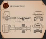Isuzu NPR Chassis 2011 Blueprint