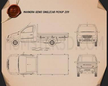 Mahindra Genio Single Cab Pickup 2011 Blueprint