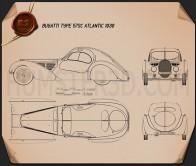 Bugatti Type 57SC Atlantic 1936 Blueprint