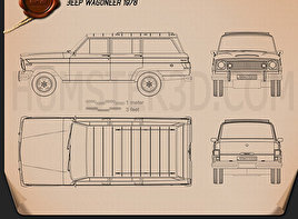 Jeep Wagoneer 1978 Blueprint
