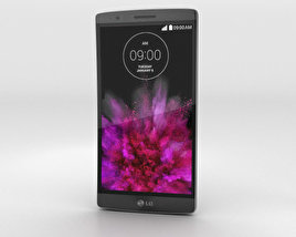 3D model of LG G Flex 2 Platinum Silver