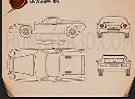 Lotus Europa 1973 Blueprint