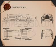 Bugatti Type 35 1924 Blueprint