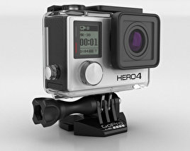 3D model of GoPro HERO4 Silver