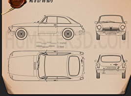 MG MGB GT V8 1973 Blueprint
