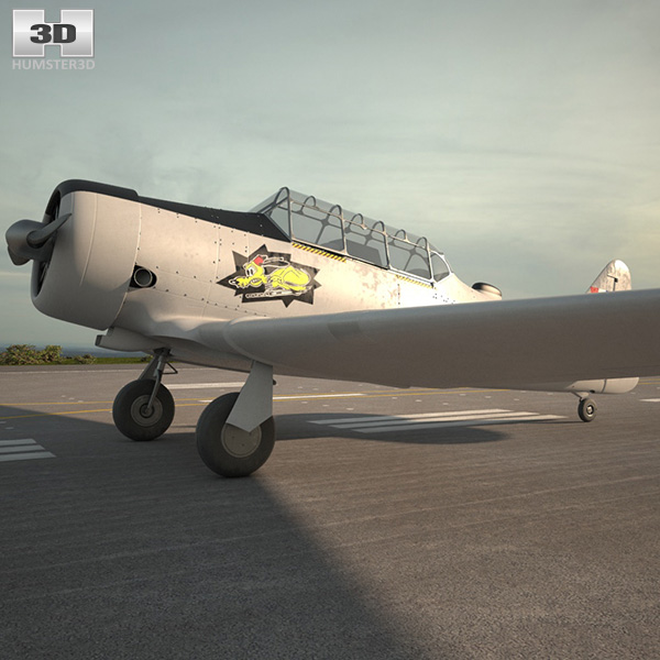3D model of North American T-6 Texan