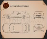 Saab 9-3 convertible 2008 Blueprint