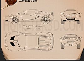 Lotus Elise S 2012 Blueprint
