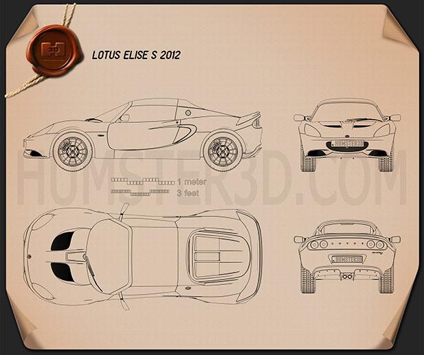 Lotus Elise S 2012 Blueprint