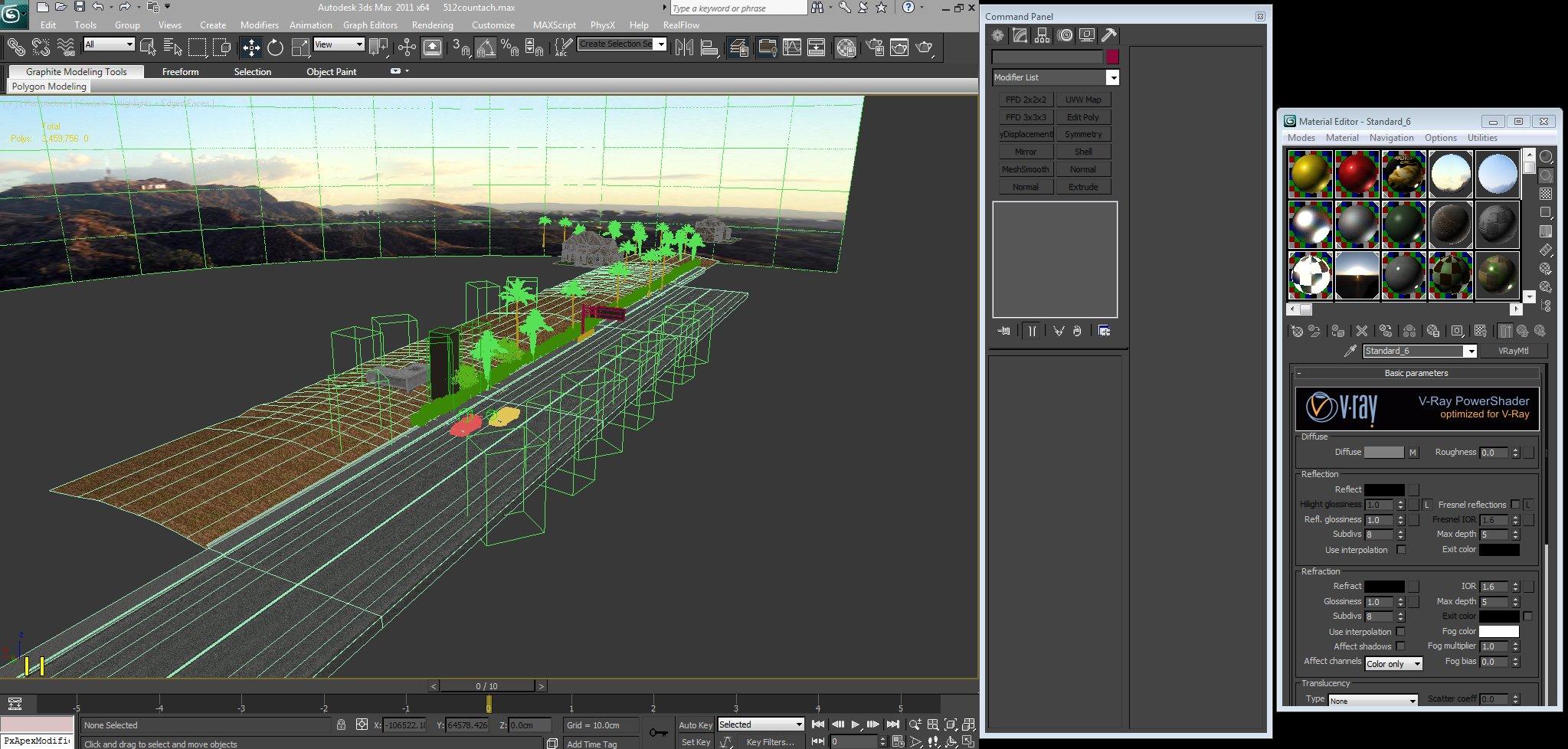 screenshot of the workspace