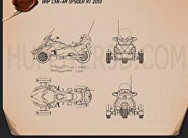 BRP Can-Am Spyder RT 2014 Blueprint