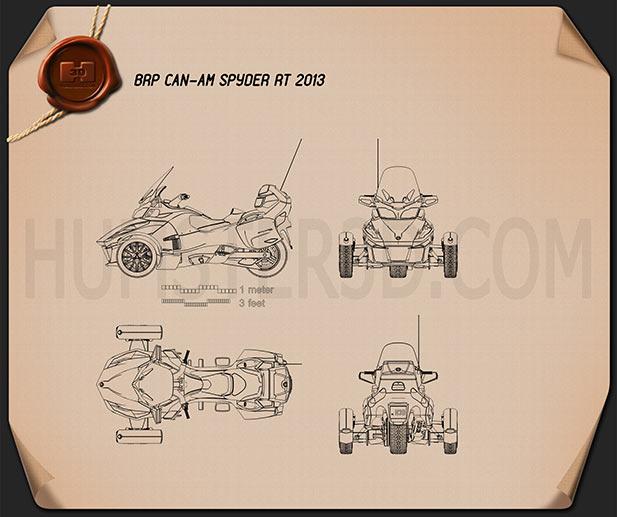 BRP Can-Am Spyder RT 2014 Blueprint