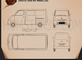 Daihatsu Gran Max Minibus 2012 Blueprint